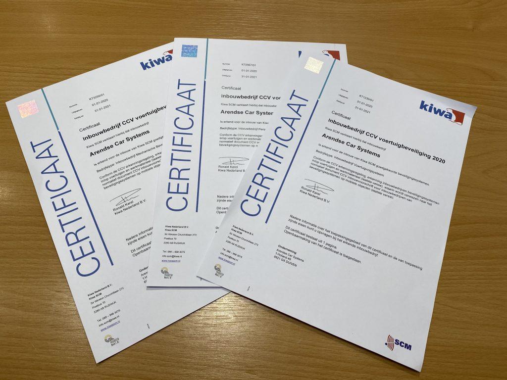 Arendse Car Systems Kiwa SCM goedgekeurd inbouwbedrijf